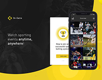 UX/UI. Interaction Design. Sport App.