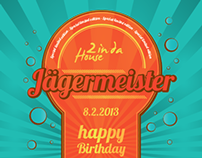 Jagermeister bottle label + Birthday cards