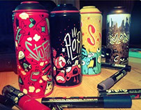 Painted spray cans Serie #01