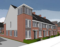 Terraced housing design, the Netherlands