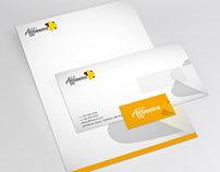 Affinnova Logo Design & Stationery