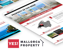 Website YES! Mallorca Property / CMS WordPress / UI/UX
