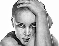 NATALIE PORTMAN'S PENCIL DRAWING
