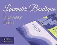 Lavender Boutique Business Card Template
