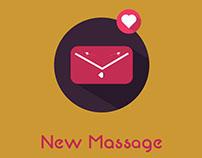 Flat New Massage Wallpaper Design