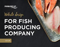 Website design for fish product company