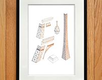 Tour Eiffel - Poster