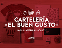 Cartelería «El Buen Gusto» │Billboard supermarket