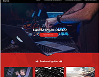 DJ´s website template