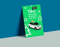 Publicité Téo Taxi (projet fictif)