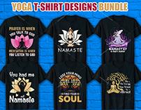 Yoga T Shirt Design Bundle