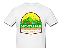Montalban Outdoors Society Inc. T-Shirt Mock up