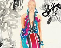 I N K / Spring dress Fashionillustrations