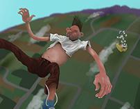 Skydiving (?)