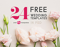 24 Free Wedding Templates in PSD