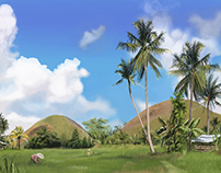 Landscape Illustration: Bohol, Philippines