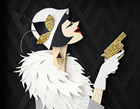 Miss Phryne Fisher - Paper Art