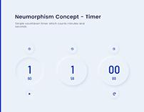 Neumorphism Concept - Timer
