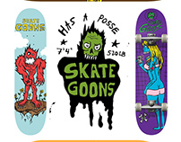 Skate Goons: Skateboarding Apparel Illustrations
