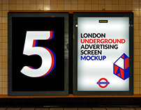 London Underground Ad Screen Mock-Ups 3