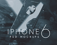 FREE iPhone 6 PSD Mockups