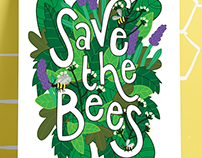 Save the Bees Illustration - October 2017