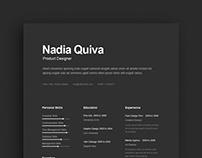 Free Dark Resume Template
