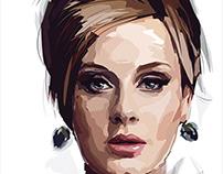 illustrated adele portrait