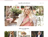 Cupcakes and Cashmere E-Commerce