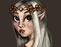 elf girl character design