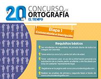 Infografía: Concurso de ortografía El Tiempo