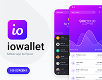 IOWallet Mobile UI kit for Banking & Crypto Apps