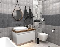 Bathroom with KERAMA MARAZZI Carnaby Street