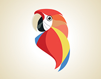 Scarlet Macaw Business Card