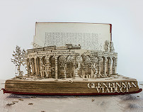 Glenfinnan Viaduct Book Sculpture: Visit Scotland