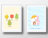 Cute vector posters