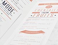 Menu Design for Cointreau