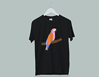 ~Macaw Parrot T-shirt design project.
