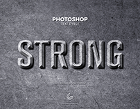Free Strong Photoshop Text Effect