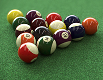 free billiards 3d scene animation