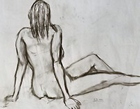 College 11 min Figure Drawing off of live model