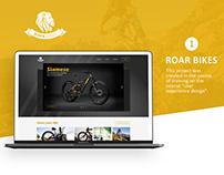 Design of website for bikes selling