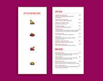 Menu Design for Wok's Den