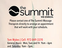 Summit Massage Flyer - 2016