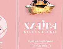 flyer breakfast menu for Szajba gallery-club