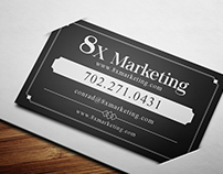 8X Marketing Business Card Design