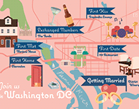 Washington DC Map Wedding Invitation
