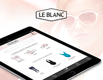 LE BLANC fashion brand | iPad app