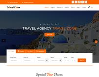 Tour Travels website template design