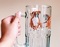 Hand Painted Boxer Mug